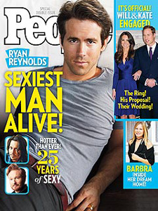 Ryan Reynolds People's sexiest man alive cover 2010