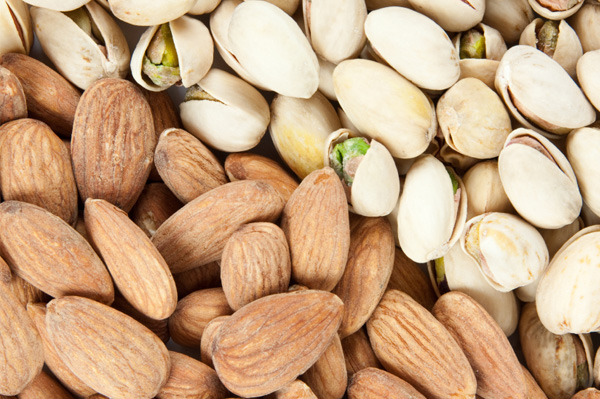 Almond and pistachios