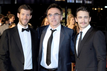 Aron Ralston, Danny Boyle and James Franco at the 127 Hours premiere