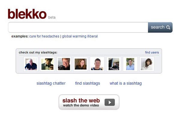 Blekko, a new search engine designed to challenge Google