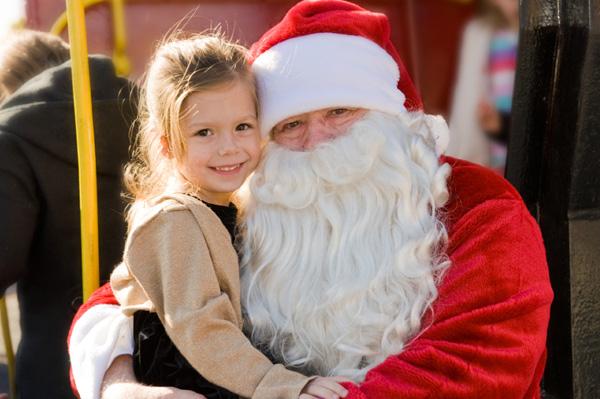 Santa at a block party