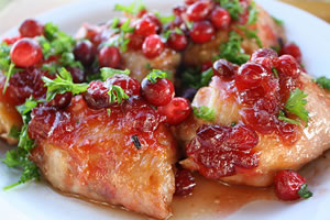 Cider Glazed Chicken and Cranberries