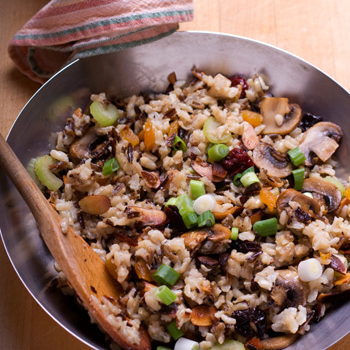 Gluten free cranberry rice stuffing