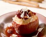 Cranbery maple baked apples