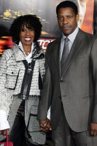 Denzel and his wife take in the Unstoppable premiere