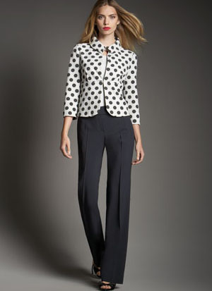 Dotted jersey jacket