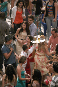 Edward and Bella on set Breaking Dawn