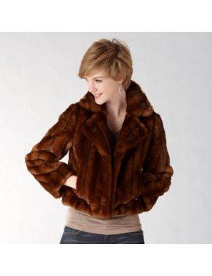 Keeping warm in faux fur!