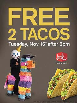 Jack in the Box offering free tacos