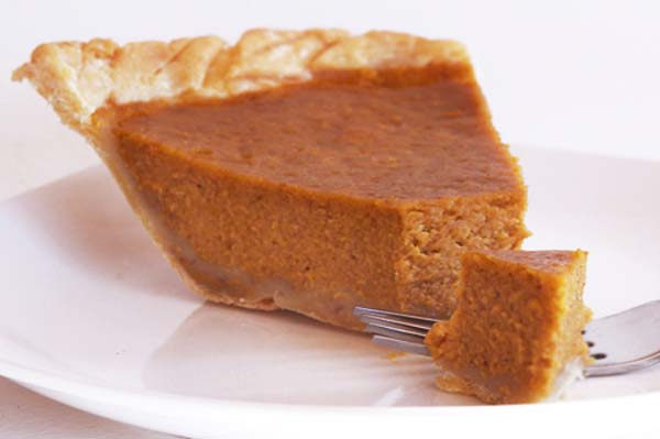 Gluten-free Thanksgiving pumpkin pie