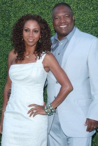 Holly Robinson and Rodney Peete