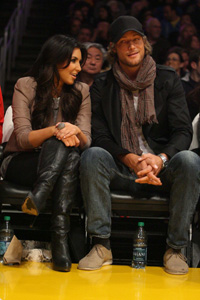 Kim Kardashian and Gabriel Aubry
