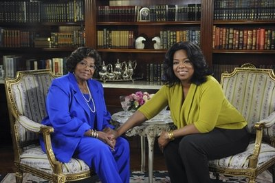 Oprah Winfrey and Katherine Jackson