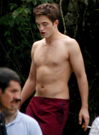 Robert Pattinson bathing suit