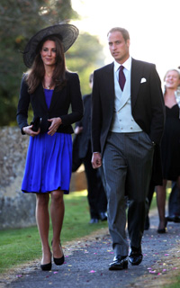Prince William and his fiance Kate Middleton