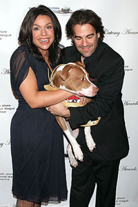 Rachael Ray and husband with dog