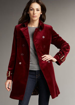 Velvet trench