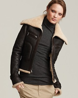 Vince shearling aviator jacket