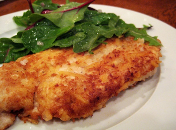 Tonight's Dinner: Chicken Milanese with Spring Greens