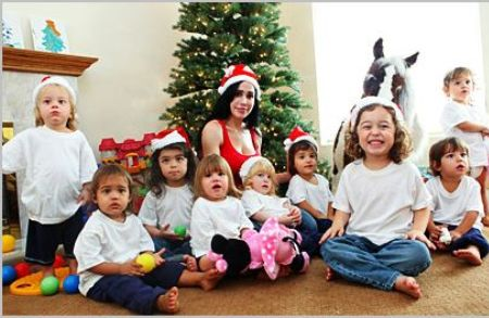 An Octomom family christmas