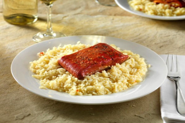 Planks add great flavor to salmon