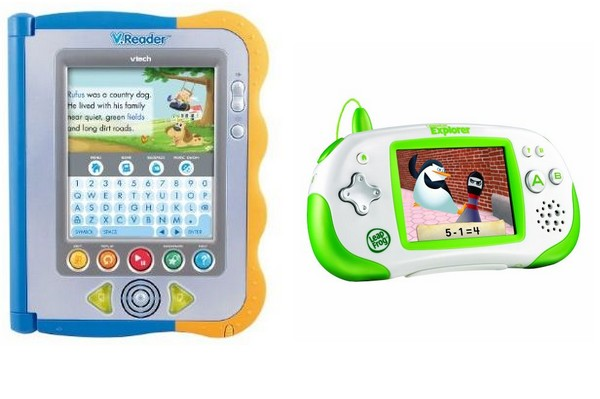 V reader and Leapfrog Leapster