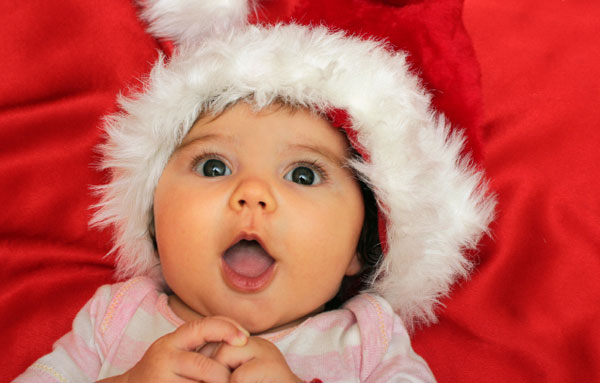 christmas baby girl santa hat