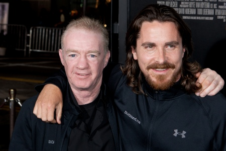 Dicky and Christian Bale at The Fighter premiere