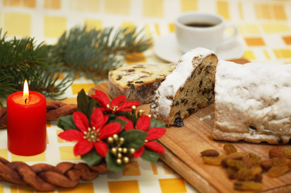 Christmas breakfast stollen
