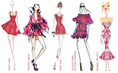 pantone honeysuckle trend fashion designers