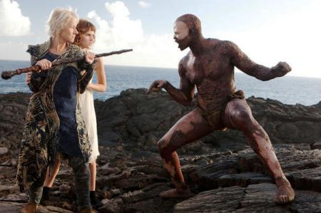 Helen Mirren and Djimon Hounsou in The Tempest
