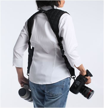 This double camera strap is multi-functional.