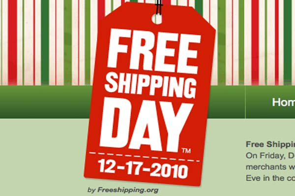 Free shipping at dozens of e-retailers