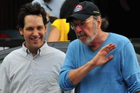 James L Brooks and Paul Rudd on the How Do You Know set