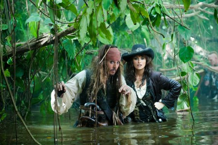 Johnny Depp and Penelope Cruz in Pirates of the Caribbean 4