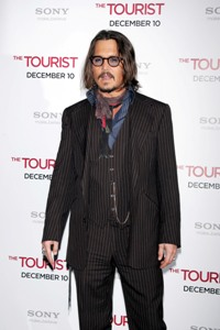 Johnny Depp at The Tourist premiere