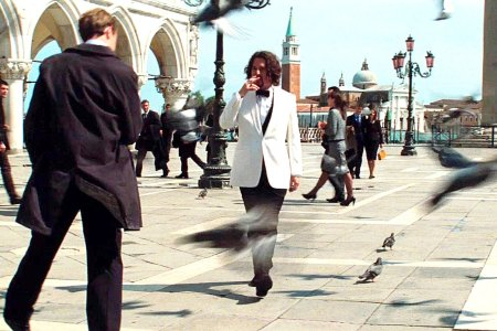 Johnny Depp walks in Venice in The Tourist