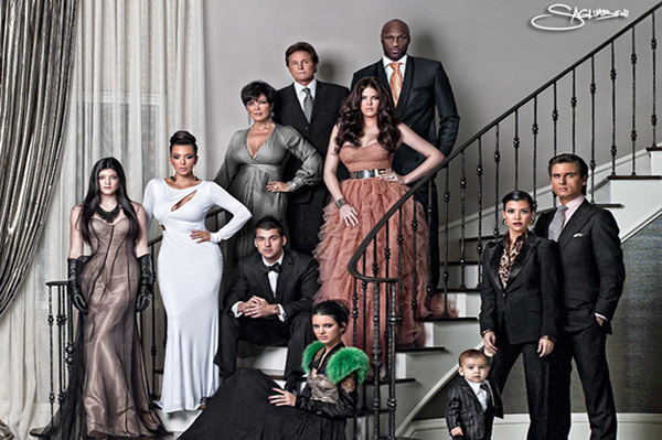 2010 Kardashian Christmas Card