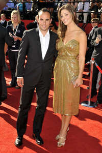 Landon Donovan and Bianca Kajlich