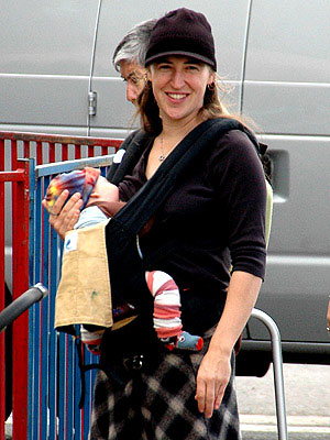 mayim bialik sling breastfeeding