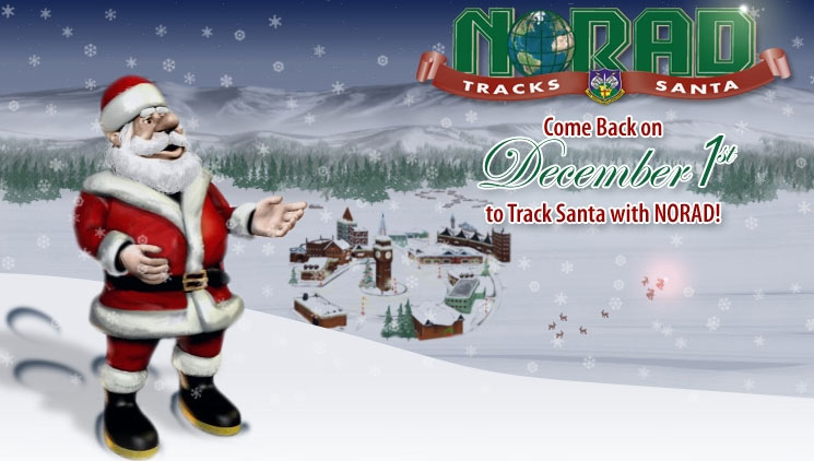 norad santa tracking christmas eve