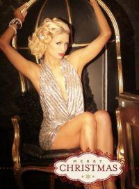 Paris Hilton Christmas card