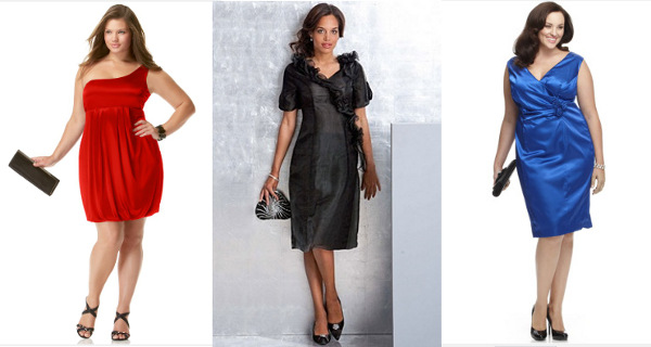 Plus-size cocktail dresses