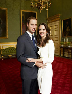 Prince Wiliam and Kate Middleton royal engagement photos
