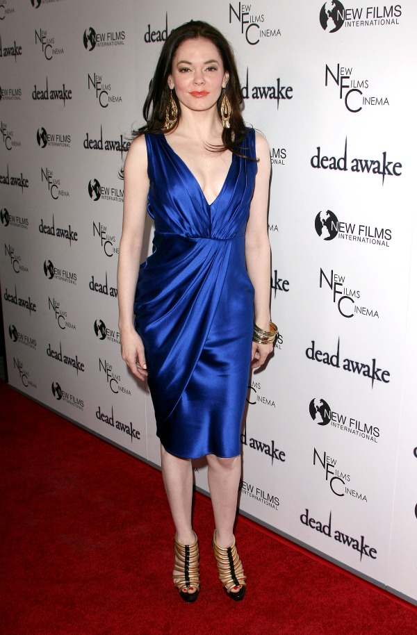 Rose McGowan in blue