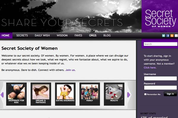 Secret Society of Women and Lisa Ling