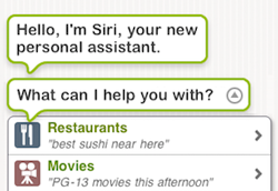 Siri app for personal assistance