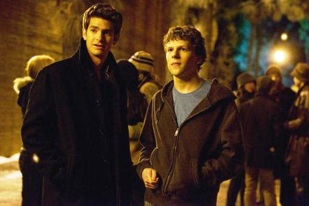The Social Network stars Jesse Eisenberg and Andrew Garfield