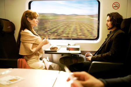 The Tourist: Jolie and Depp are strangers on a train