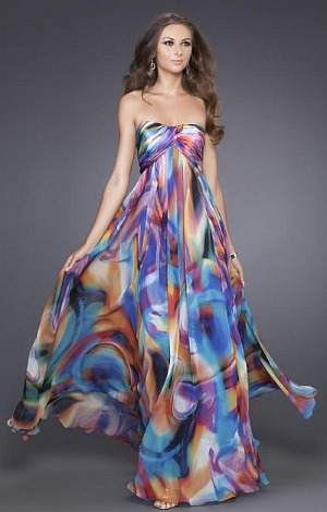 Watercolor print dress